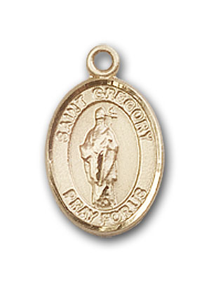 14K Gold St. Gregory the Great Pendant