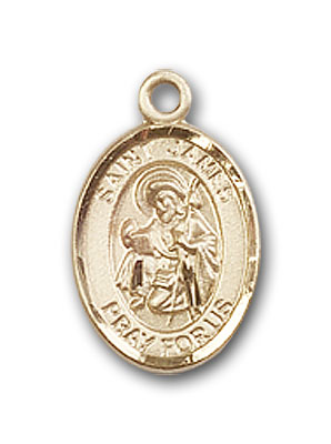 14K Gold St. James the Greater Pendant