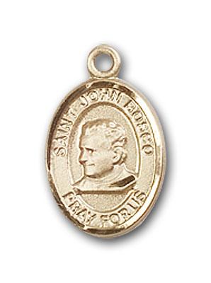 14K Gold St. John Bosco Pendant