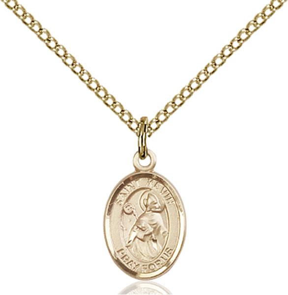 Gold-Filled St. Kevin Pendant