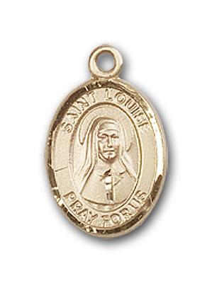 14K Gold St. Louise de Marillac Pendant