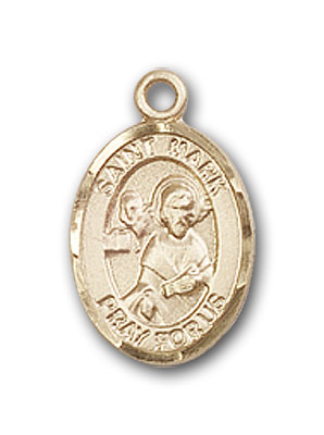 14K Gold St. Mark the Evangelist Pendant