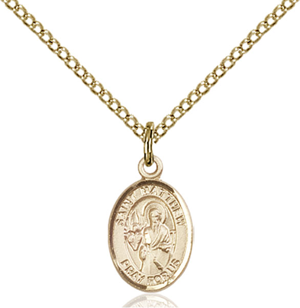 Gold-Filled St. Matthew the Apostle Pendant