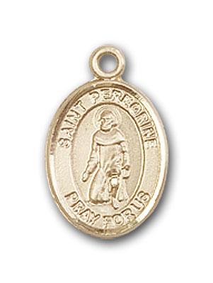 14K Gold St. Peregrine Laziosi Pendant