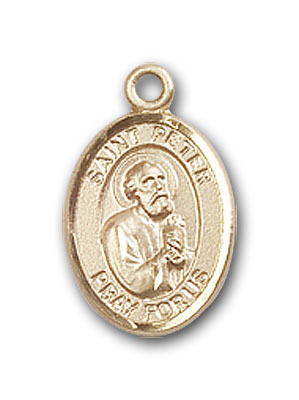14K Gold St. Peter the Apostle Pendant