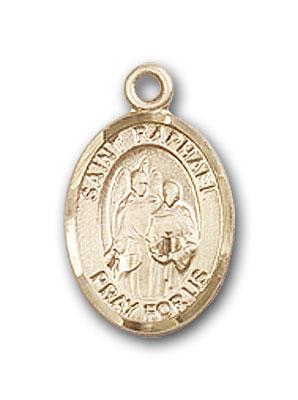 14K Gold St. Raphael the Archangel Pendant
