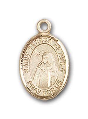 14K Gold St. Teresa of Avila Pendant