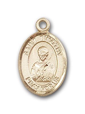 14K Gold St. Timothy Pendant
