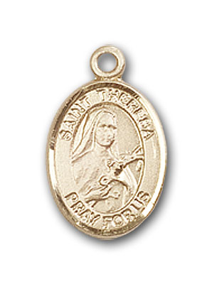 14K Gold St. Theresa Pendant