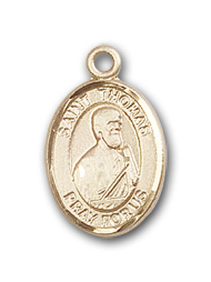 Gold-Filled St. Thomas the Apostle Pendant