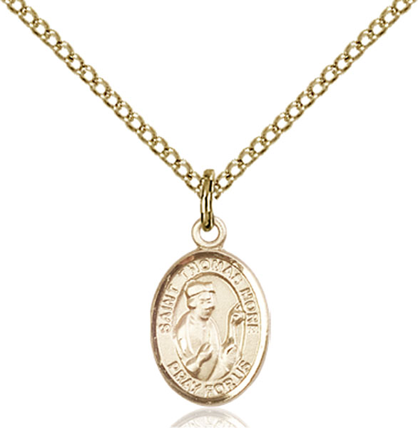 Gold-Filled St. Thomas More Pendant