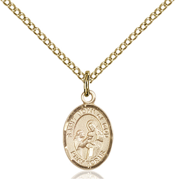 Gold-Filled St. John of God Pendant