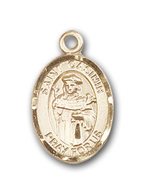 14K Gold St. Casimir of Poland Pendant