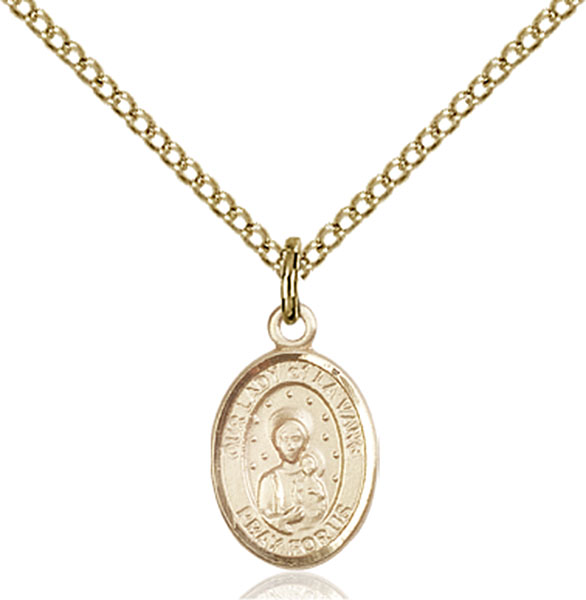 Gold-Filled Our Lady of La Vang Pendant