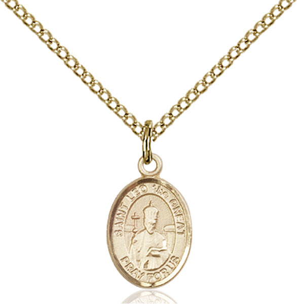 Gold-Filled St. Leo the Great Pendant