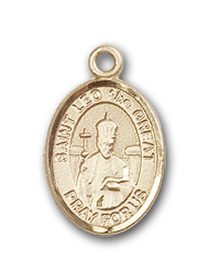 14K Gold St. Leo the Great Pendant