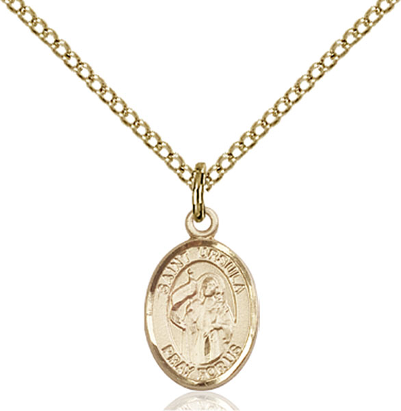 Gold-Filled St. Ursula Pendant