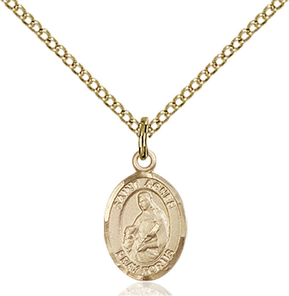 Gold-Filled St. Agnes of Rome Pendant