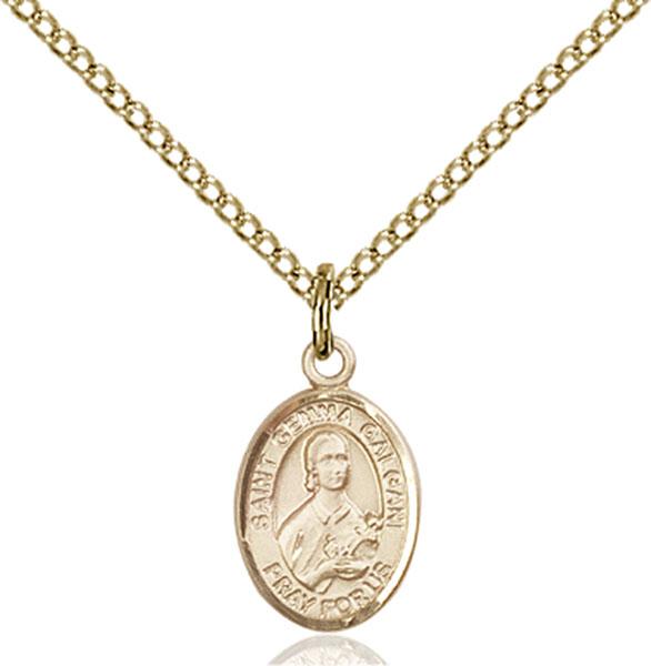 Gold-Filled St. Gemma Galgani Pendant