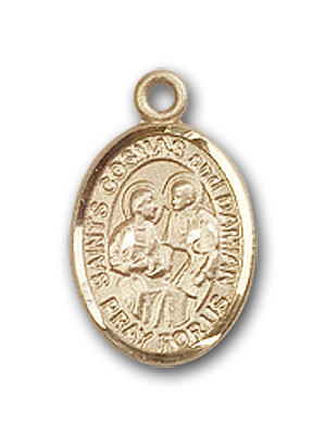 Gold-Filled Sts. Cosmas & Damian Pendant