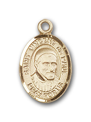 Gold-Filled St. Vincent de Paul Pendant