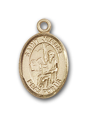 14K Gold St. Jerome Pendant