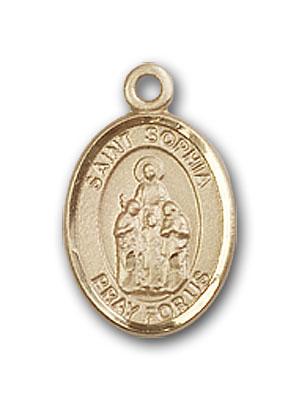 14K Gold St. Sophia Pendant