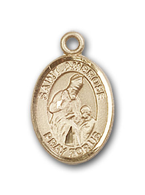 Gold-Filled St. Ambrose Pendant
