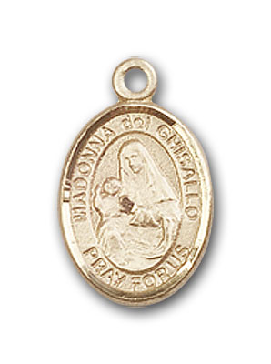 Gold-Filled St. Madonna Del Ghisallo Pendant