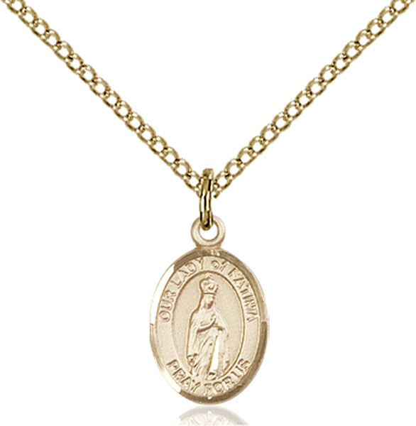 Gold-Filled Our Lady of Fatima Pendant