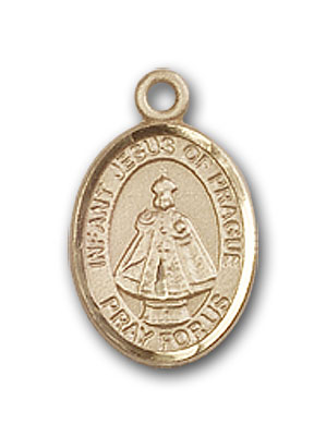 14K Gold Infant of Prague Pendant