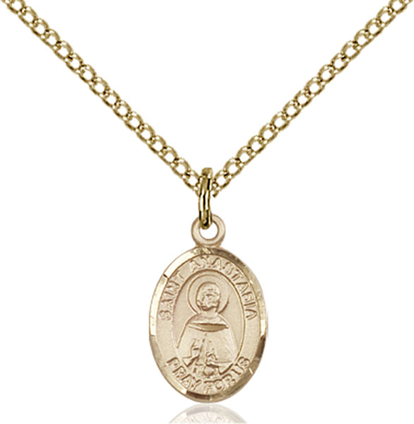 Gold-Filled St. Anastasia Pendant