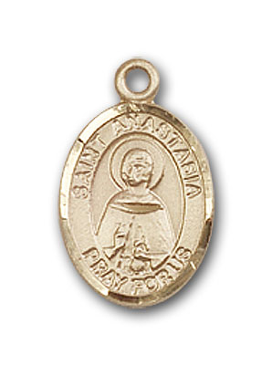 14K Gold St. Anastasia Pendant