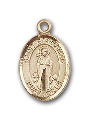 14K Gold St. Barnabas Pendant