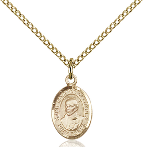 Gold-Filled St. Ignatius of Loyola Pendant