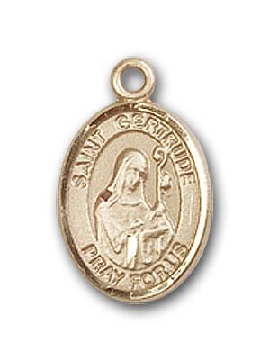 Gold-Filled St. Gertrude of Nivelles Pendant