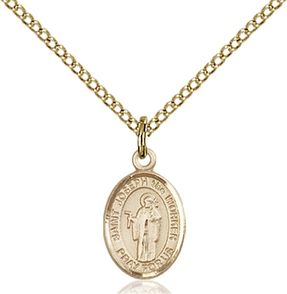 Gold-Filled St. Joseph The Worker Pendant