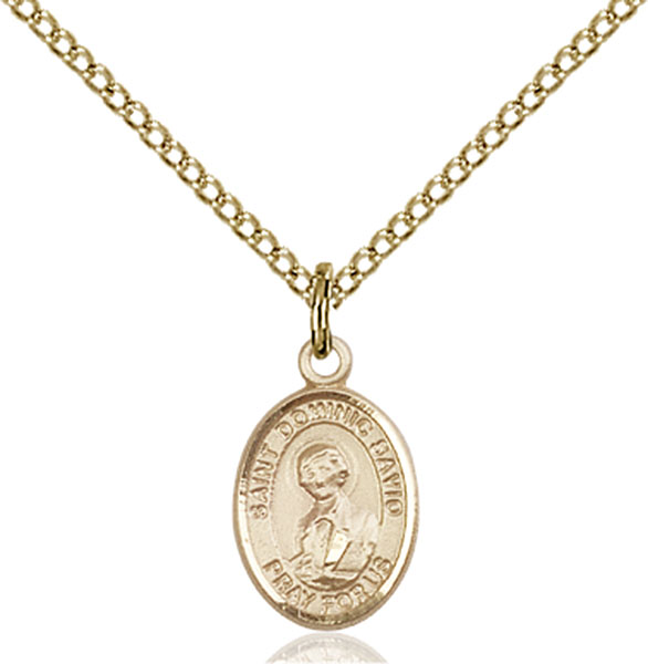 Gold-Filled St. Dominic Savio Pendant