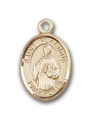 Gold-Filled St. Placidus Pendant