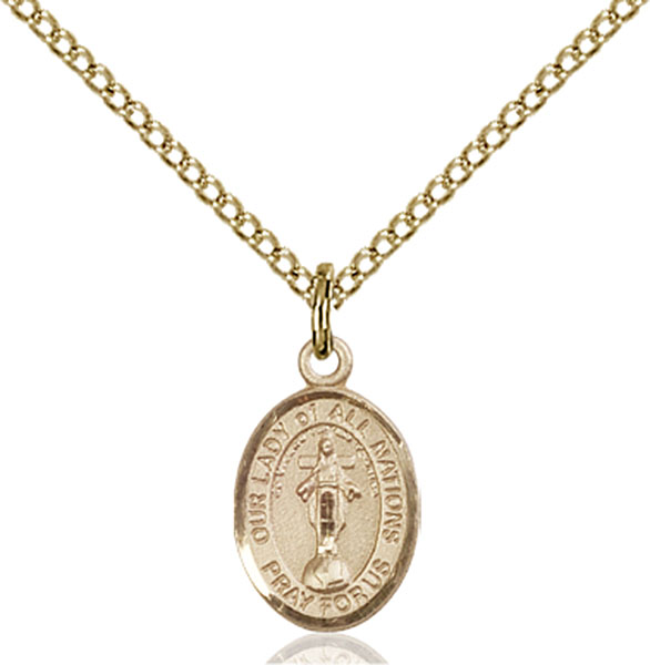 Gold-Filled Our Lady of All Nations Pendant