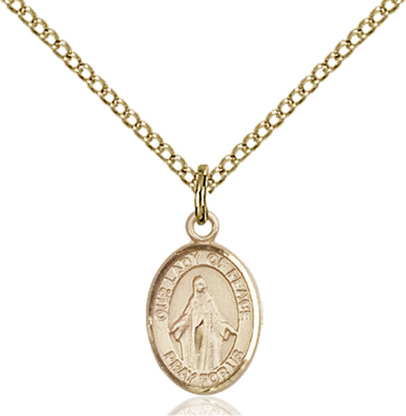 Gold-Filled Our Lady of Peace Pendant