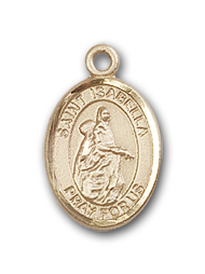 14K Gold St. Isabella of Portugal Pendant