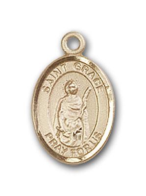 14K Gold St. Grace Pendant