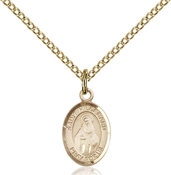 Gold-Filled St. Hildegard Von Bingen Pendant