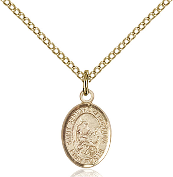 Gold-Filled St. Bernard of Montjoux Pendant