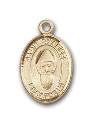 14K Gold St. Sharbel Pendant