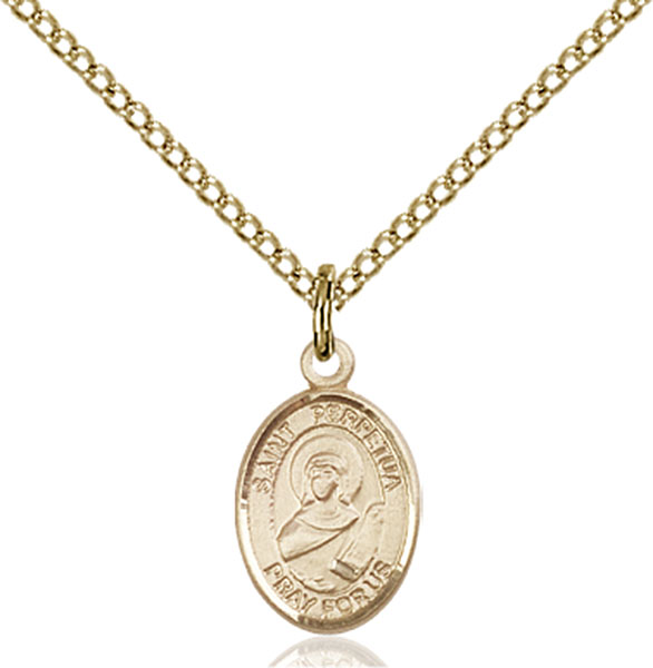 Gold-Filled St. Perpetua Pendant