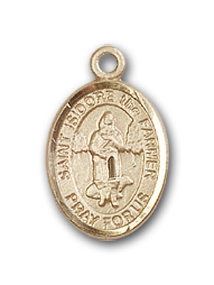 Gold-Filled St. Isidore the Farmer Pendant