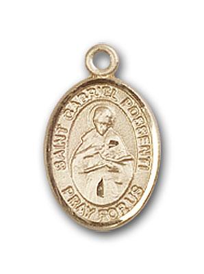 14K Gold St. Gabriel Possenti Pendant