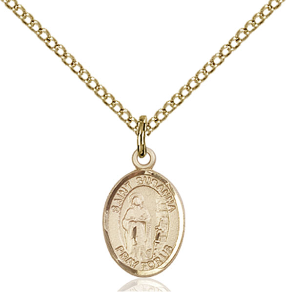 Gold-Filled St. Susanna Pendant